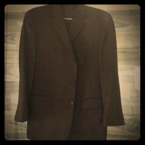 Calvin Klein 42 R/36 brown pinstripe suit